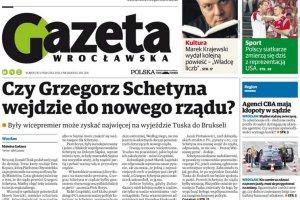 """""""Gazeta Wroc�awska"""": Schetyna wejdzie do rz�du. Zast�pi Bie�kowsk�?"""