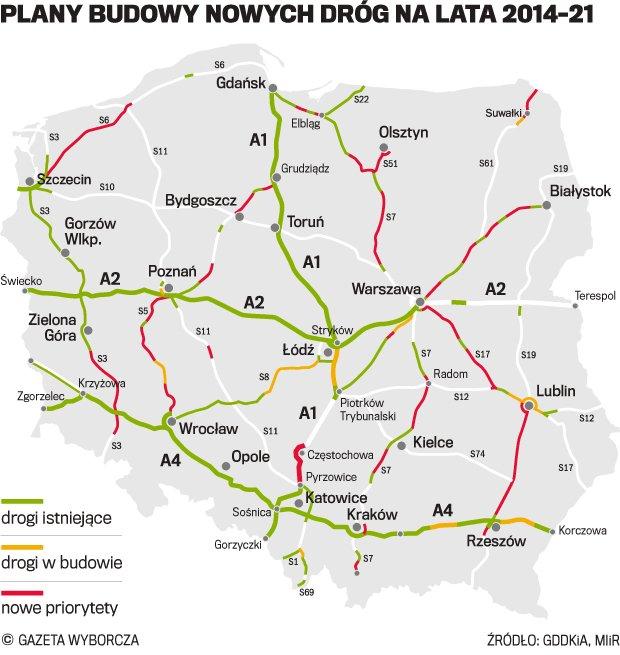 Rozdzielone pierwsze dotacje drogowe z nowego budżetu UE na S3, S5 i S7