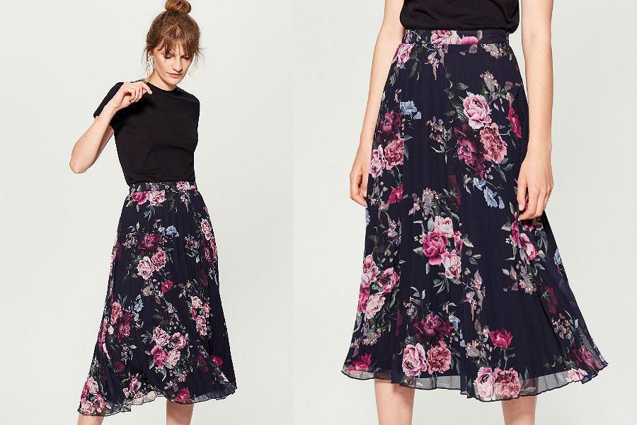 Spódnica w kwiaty Mohito