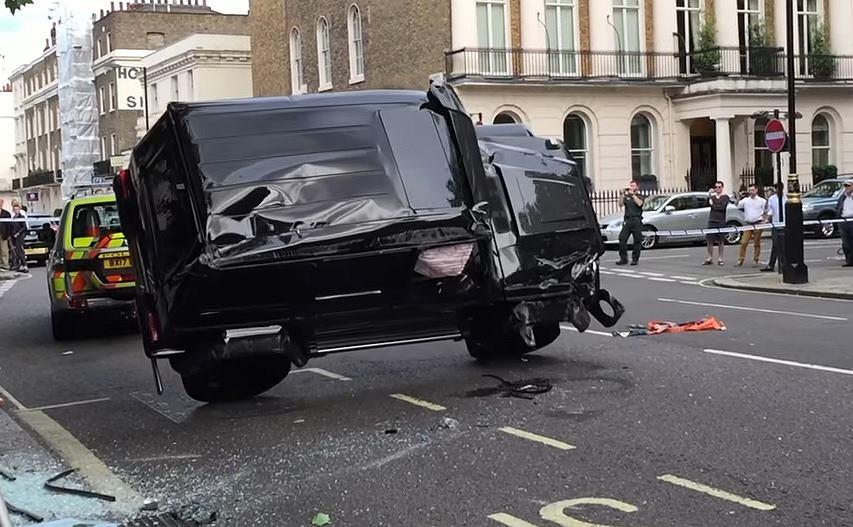 Wypadek na ulicach Londynu