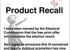 Wybory w Wielkiej Brytanii. Banksy proponował swój obrazek tym, którzy zagłosują przeciw torysom. Sprawą zajęła się policja