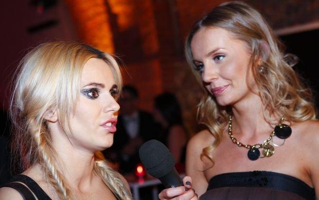 Doda i Agnieszka Szulim na 40. urodzinach TVP2 w pa�dzierniku 2010 roku