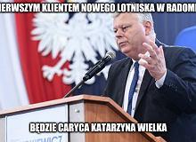 Rząd kupił lotnisko w Radomiu, a Marek Suski wie czemu. Jest bliżej na południe [MEMY]