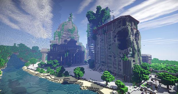 Jeden z budynków przygotowany przez gracza w Minecrafta