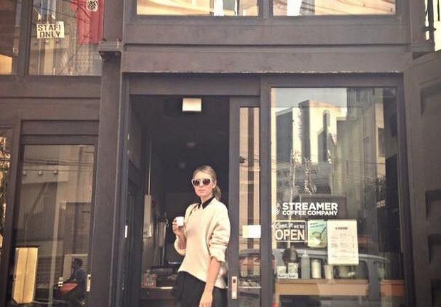 Maria Szarapowa cieszy się, że znalazła idealną kawę w kafejce w Tokio