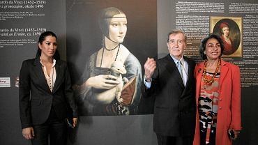 Adam Karol Czartoryski z żoną Josette Calil i córką Tamarą Czartoryską