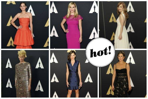 Sezon filmowy w Hollywood rozpocz�ty! Na gali Governors Awards Jessica Chastain wyst�pi�a w bieli, Marion Cotillard w czerwieni, Keira Knightley w czerni, a Jennifer Aniston zaprezentowa�a nowy wizerunek [ZDJ�CIA]