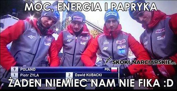 Zdjęcie numer 1 w galerii - Skoki narciarskie. PŚ w Willingen. Memy po zwycięstwie Polaków