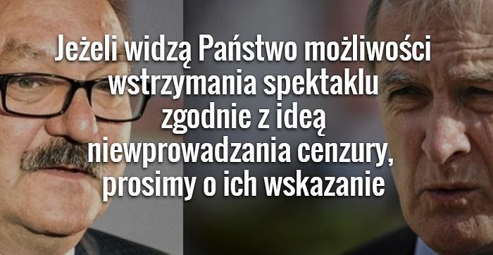 Urząd marszałkowski odpowiada resortowi kultury, na zdjęciu Minister kultury Piotr Gliński, marszałek województwa dolnośląskiego Cezary Przybylski