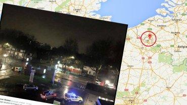 Francja. Strzelanina w mie�cie przy granicy z Belgi�, wzi�to zak�adnik�w. Jeden z napastnik�w zabity