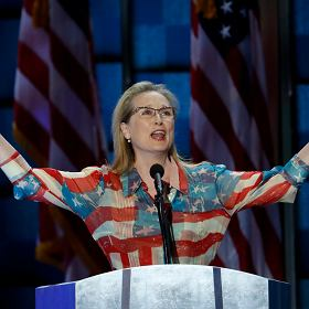 Meryl Streep zrobi�a furor� na konwencji Demokrat�w