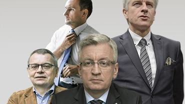 Kto ma szanse wygrać wybory samorządowe w 2018 roku? Na grafice: Jacek Jaśkowiak, Tadeusz Zysk, Ryszard Grobelny, Tomasz Lewandowski