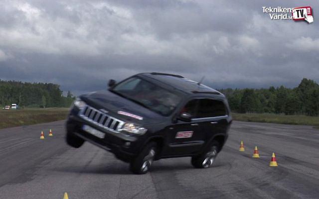 Jeep Grand Cherokee w pierwszym teście łosia