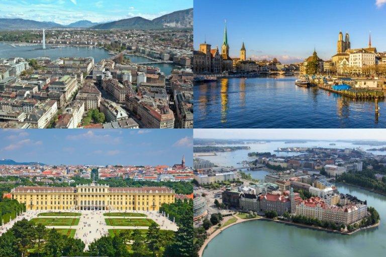 Najlepsze miasta do życia w Europie