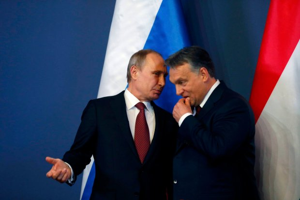 W�adimir Putin i Viktor Orban
