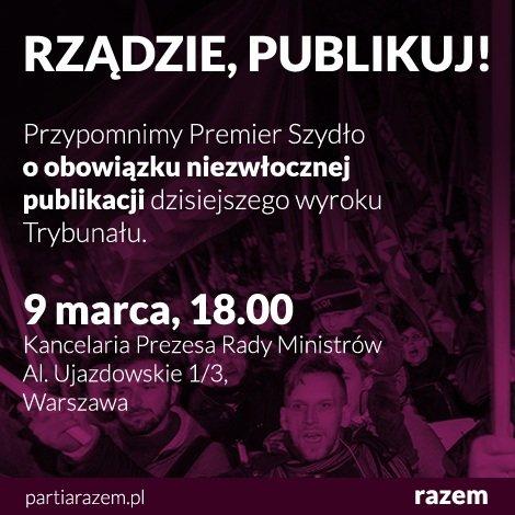 Plakat partii Razem