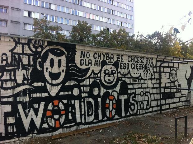 Mural anny czarnoty przy ul sady oliborskie 1 for Mural ursynow