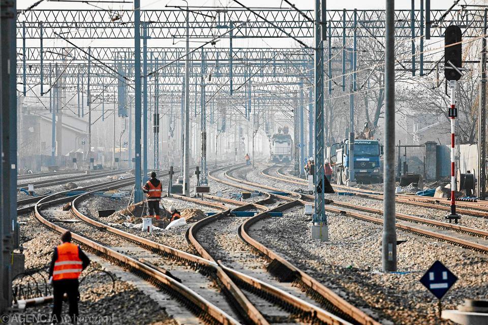 Przebudowa centralnej magistrali kolejowej pod Grodziskiem Mazowieckim