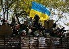 Ukrai�scy �o�nierze w Doniecku na wschodzie Ukrainy