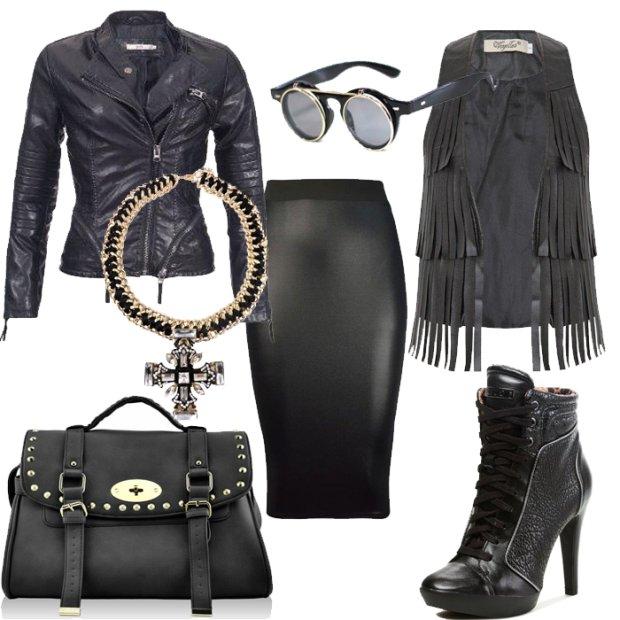 Ubrania i dodatki w rockowym stylu na jesie�