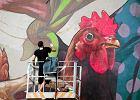 """Polacy stworzyli najwi�kszy mural w Rzymie. """"Nareszcie przyjechali, by podarowa� jedno ze swoich dzie�"""""""