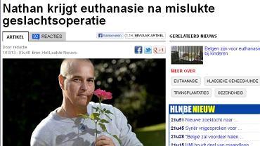 """Strona internetowa gazety """"Het Laatste Nieuws"""""""