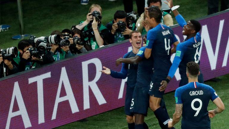 MŚ 2018. Francja - Belgia. Po zwycięskiej bramce Francuzów