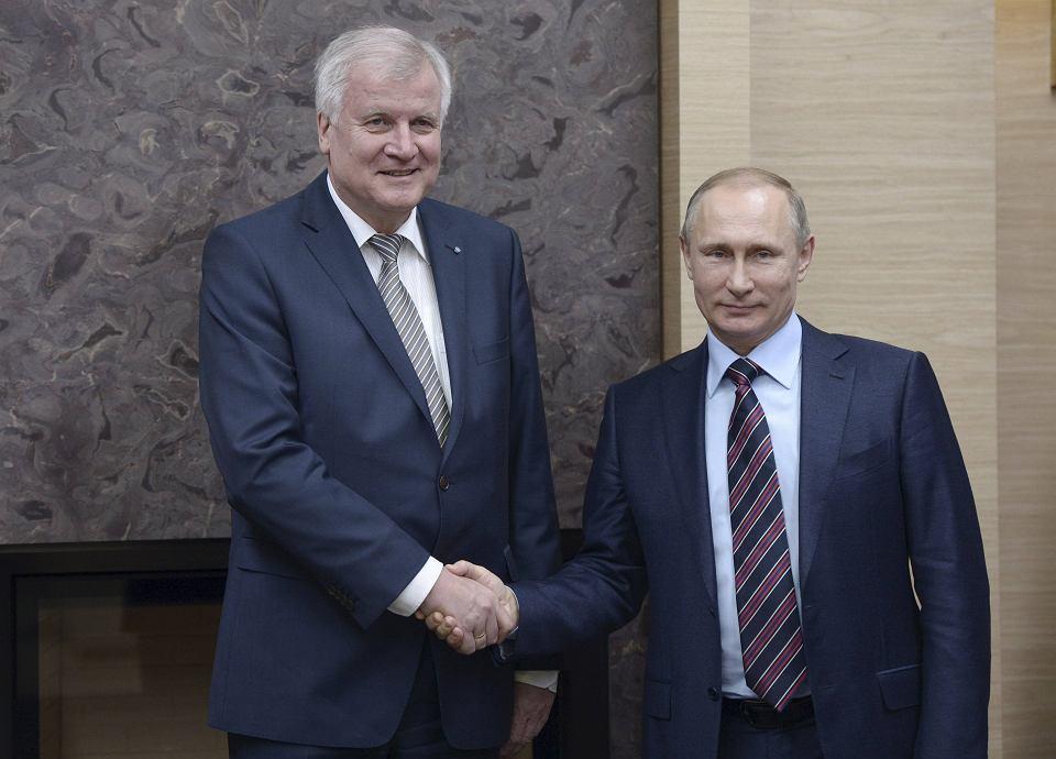 Horst Seehofer na spotkaniu z Władimirem Putinem
