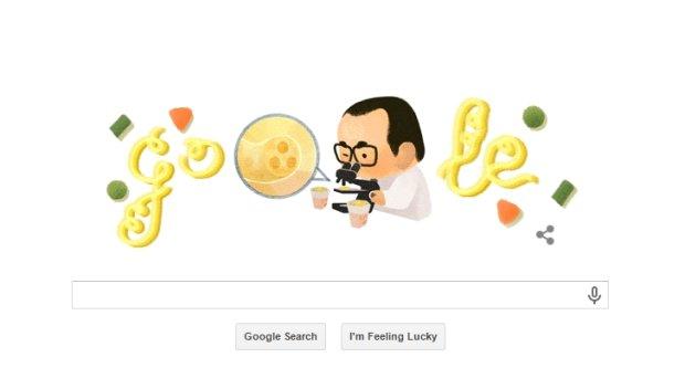 Google Doodle z Momofuku Ando. Wyszukiwarka �wi�tuje 105. rocznic� urodzin wynalazcy zupki chi�skiej