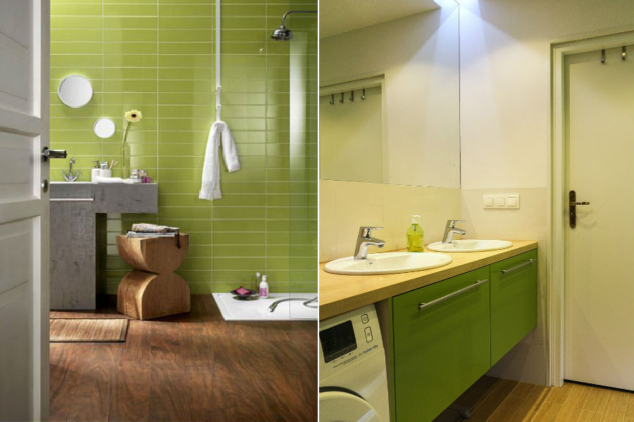 Energetyczna zieleń w łazience
