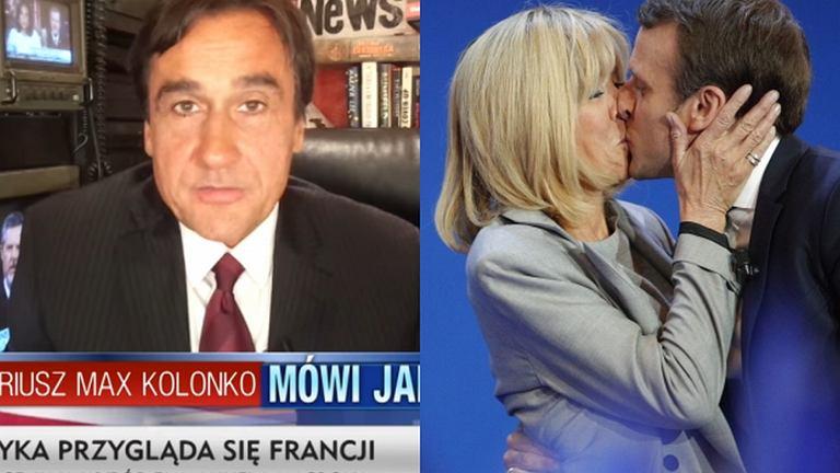 Mariusz Max Kolonko, Emmanuel Macron i Brigitte Macron