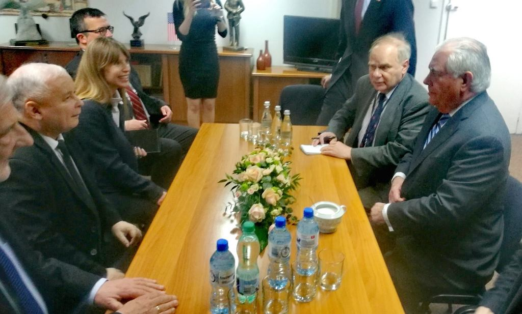 Spotkanie Tillersona z Kaczyńskim w siedzibie PiS na Nowogrodzkiej