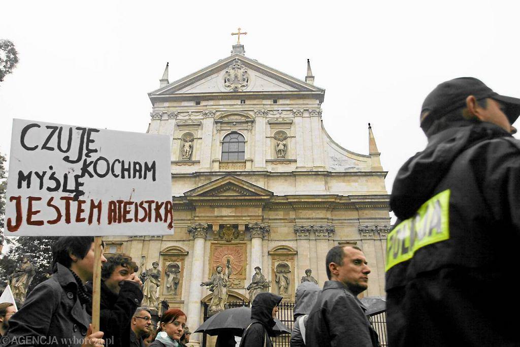 Marsz ateistów w Krakowie. 2009 rok