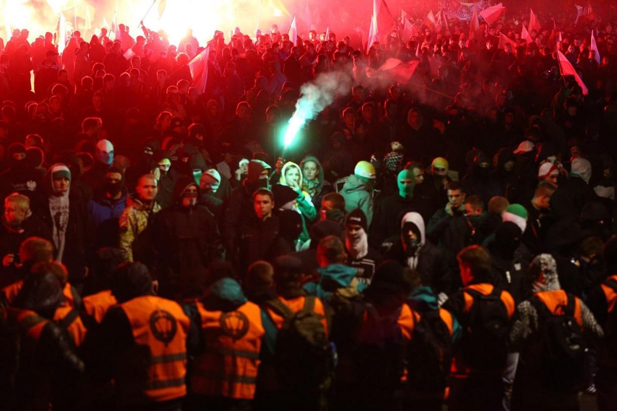 Protest w dniu Święta Niepodległości (fot. Adam Stepień / Agencja Gazeta)