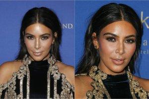 Kim Kardashian w czasie swojej drugiej ci��y przyty�a a� 30 kilogram�w. Celebrytka nie ukrywa�a, �e po urodzeniu pierwszego dziecka mia�a du�y problem z powrotem do formy, jednak teraz szybko uda�o si� jej zrzuci� wi�kszo�� nadbaga�u. Kardashian nie osiada na laurach i nadal planuje schudn�� jeszcze prawie 10 kilo. Gwiazda sama robi sobie chyba jednak krzywd�, dobieraj�c do swojej trudnej sylwetki niezbyt udane kreacje. Wczoraj Kim pojawi�a si� na 3. urodzinach klubu Hakkasan w Las Vegas i... nie zachwyci�a. Wida�, �e schud�a ju� ponad 20 kilogram�w?