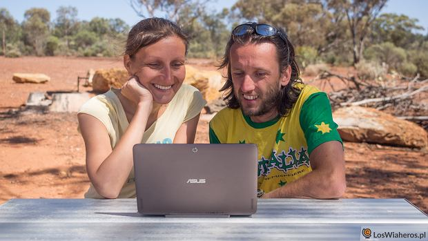 Alicja Rapsiewicz i Andrzej Budnik w Australii