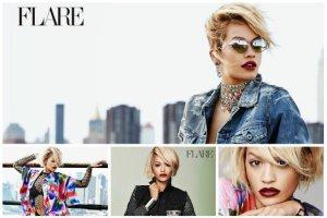 """Rita Ora w modnym d�insie w magazynie """"Flare"""". Na ok�adce podpis: Ikona Stylu. Zgadzacie si�?"""