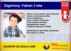 To nie koniec sprawy 3-letniego Fabiana z Radomia. Policja wci�� go poszukuje