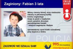 Policja odnalazła porwanego trzyletniego Fabiana. Ojciec zatrzymany