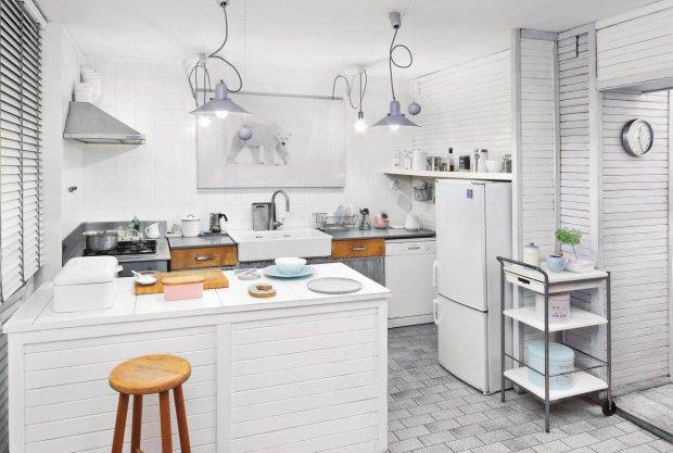 Metamorfoza kuchni w stylu skandynawskim -> Kuchnia Z Wyspą Ikea