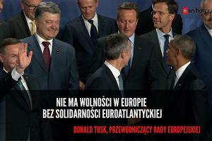 Solidarność północnoatlantycka. Najważniejsze cytaty z pierwszego dnia spotkania w Warszawie