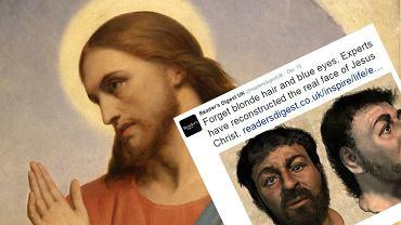 """Obraz """"Jezus Płaczący nad Jeruzalem"""" Ary'ego Scheffera i rekonstrukcja Richarda Neave"""