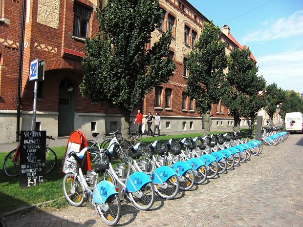 Wypożyczalnia rowerów w Göteborgu