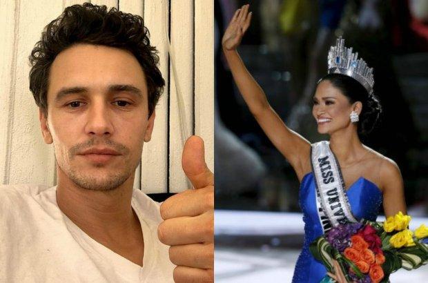 """James Franco ogłasza, że """"kocha Miss Universe"""". Odpowiedziała. Media: Mały flircik!"""