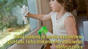 Przy myciu okien nie zapominajmy też o umyciu ram