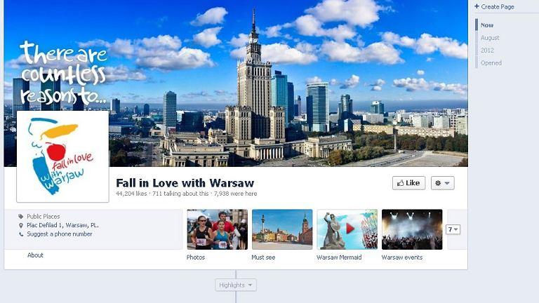 Anglojęzyczny profil Warszawy na Facebooku