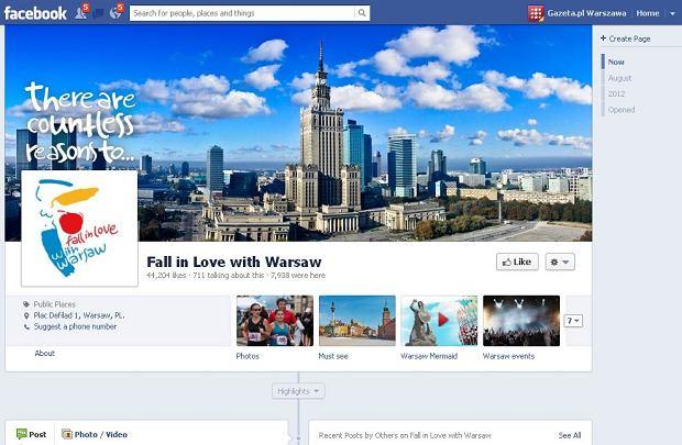 Angloj�zyczny profil Warszawy na Facebooku