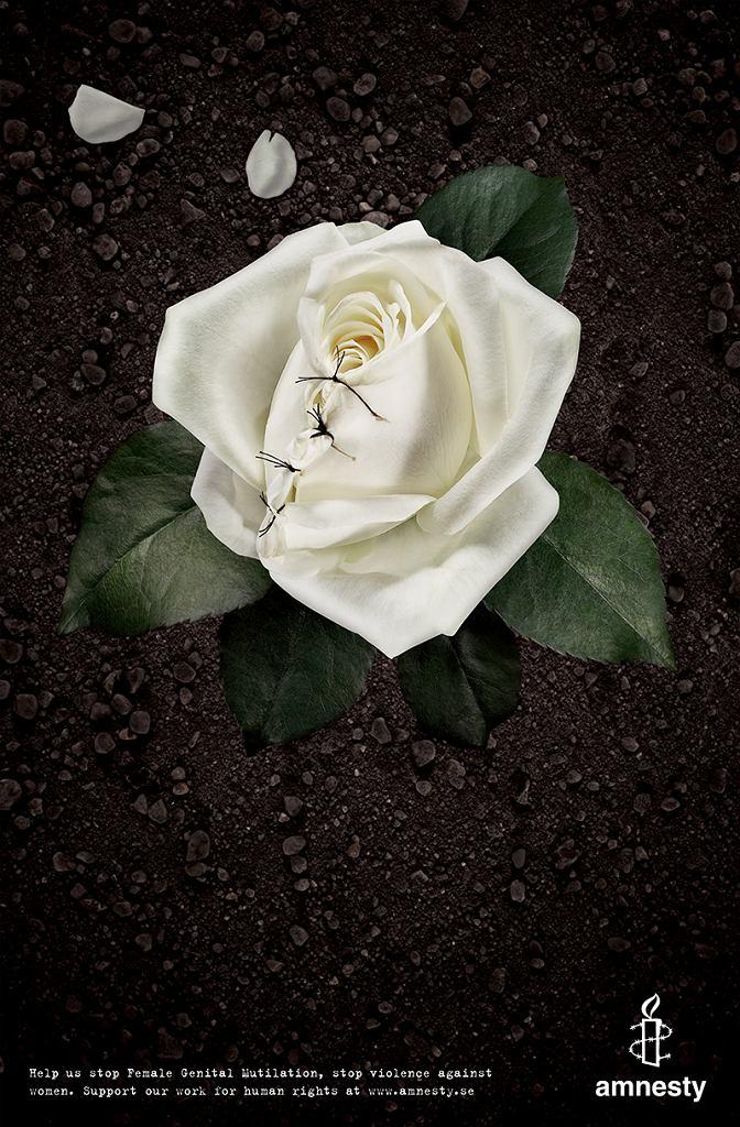 Volontaire (Szwecja / Sweden). Okaleczanie żeńskich narządów płciowych: Róża biała, 2007, druk cyfrowy, 100x70 / Materiały prasowe