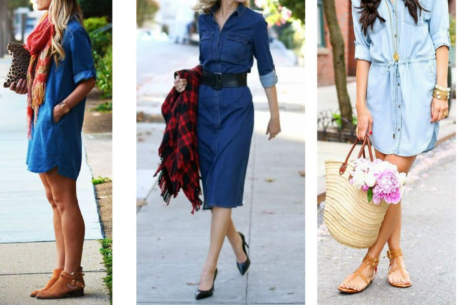 713b8fdf4b Jak nosić jeansową sukienkę  Modne stylizacje na sezon wiosna-lato