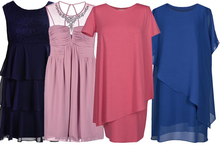 Sukienki z warstwami lub marszczeniami